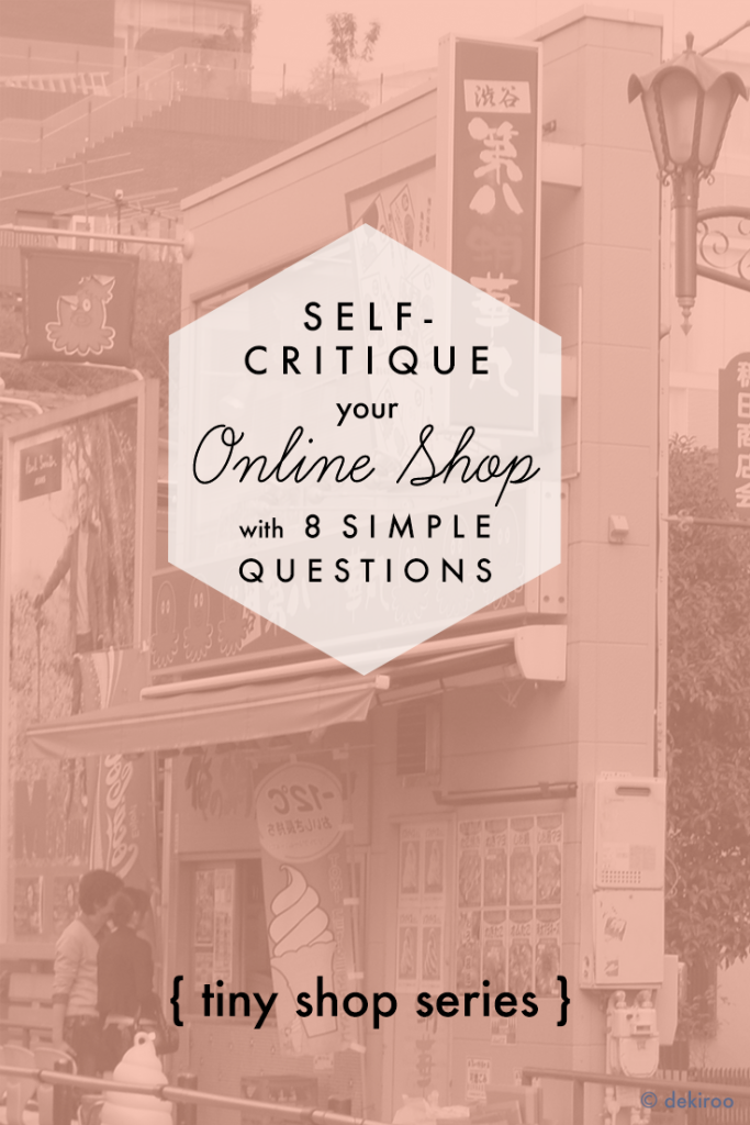 shop self critique